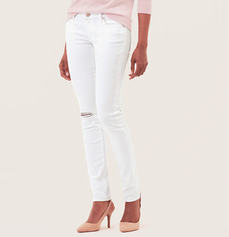 LOFT Tall Curvy Skinny Jeans in Destructed White