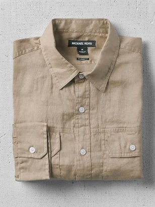 Michael Kors Two Pocket Linen Shirt