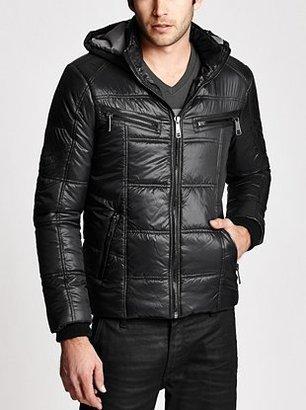 GUESS Long-Sleeve Hooded Nylon Jacket
