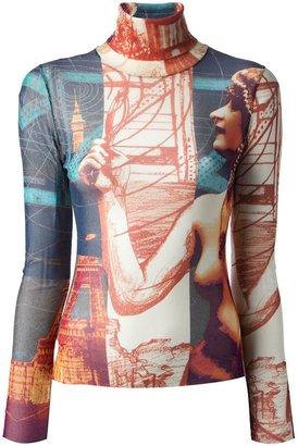 Jean Paul Gaultier Vintage printed roll neck top