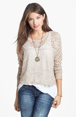 Rubbish Lace Long Sleeve Tee (Juniors)