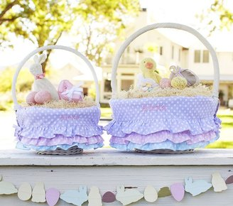 Pottery Barn Kids Tiered Ruffle Dot Easter Basket Liners