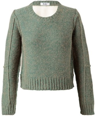 Acne 'Glenys' Alpaca-Wool Sweater with Mesh Back