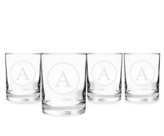 Cathy's Concepts Cathys concepts Circle Monogram 4-pc. Drinking Glass Set