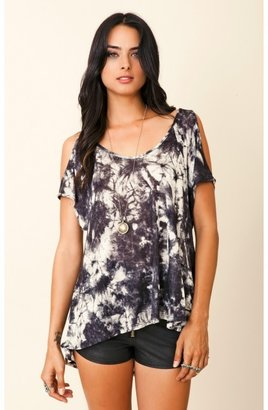 Blue Life Cut Out Arm Top