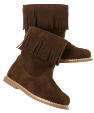 Crazy 8 Fringe Faux Suede Boot