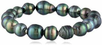 Tara Pearls Natural Color Tahitian Cultured Baroque Pearl Stretch Bracelet