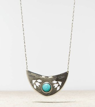 American Eagle AEO Turquoise Shield Necklace