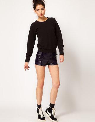 Asos Cracked PU Shorts