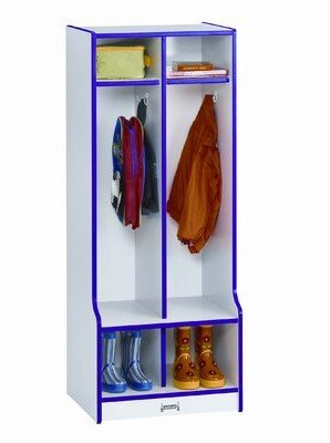 Jonti-Craft Rainbow Accents 1 Tier 2 Wide Home Locker Color: Blue