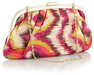 Butterfly by Matthew Williamson Light gold abstract aztec clutch bag