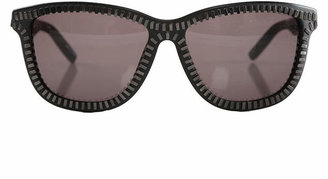 Alexander Wang Linda Farrow X  Black & Nickel Zipper Frame Sunglasses