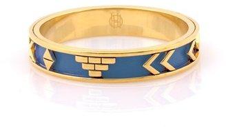 House Of Harlow Aztec Bangle Bracelet with Lapis Leather