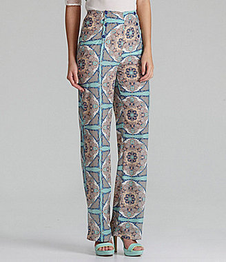 Gianni Bini Alma High-Waist Sateen Pants