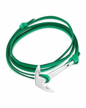 Miansai Anchor Leather Bracelet, Kelly Green $65 thestylecure.com