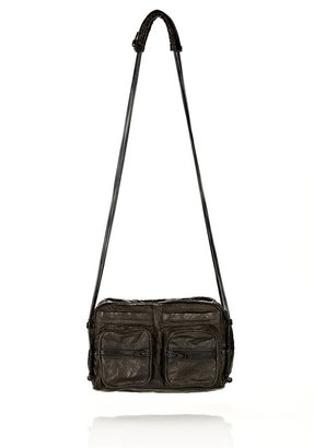 Alexander Wang Brenda Chain In Black Leather With Matte Black