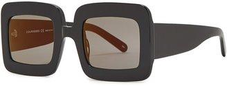 Courreges Black Square-frame Sunglasses