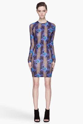 Christopher Kane Electric blue Bouquet Dress