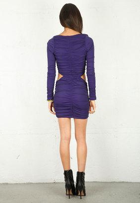 Boulee Blake Long Sleeve Dress in Purple - by