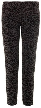 Thakoon Leopard flocked-velvet slim-leg trousers
