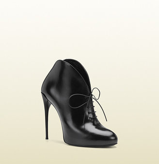 Gucci Kim Leather Lace-Up Bootie