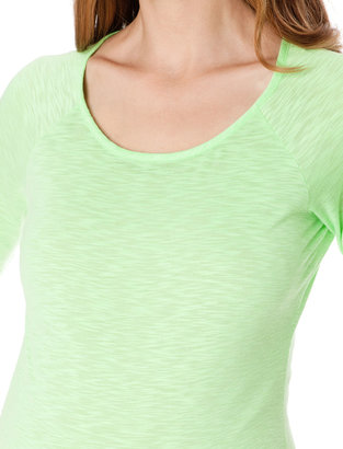 A Pea in the Pod Elbow Sleeve Scoop Neck Maternity T Shirt
