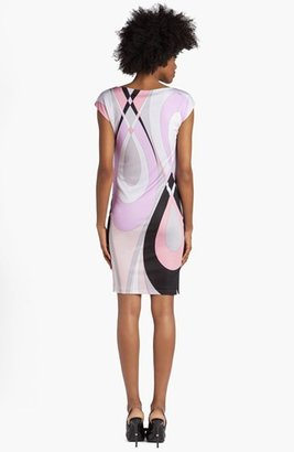 Emilio Pucci 'Otto Print' Cap Sleeve Jersey Dress