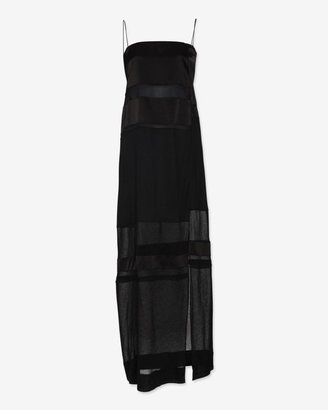 Helmut Lang Sheer Inset Maxi Dress