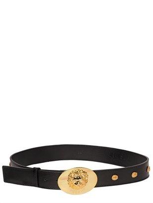 Versus 40mm Lion Studded Leather Belt