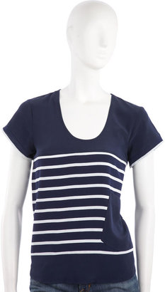 Madison Marcus Striped Top - Navy