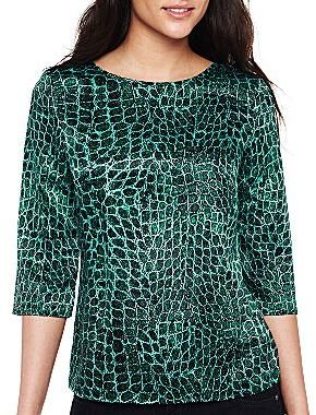 JCPenney a.n.a® Scoop-Back Blouse