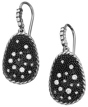 David Yurman Midnight Melange Earrings, Pave Diamond
