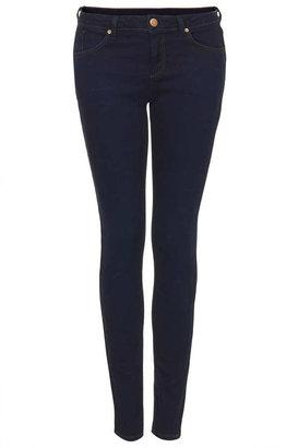 Topshop Moto indigo rinse baxter jeans