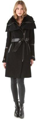 Mackage Side Zip Coat with Tie