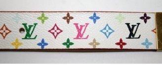 Louis Vuitton very good (VG White Multicolore Monogram Ladies Belt