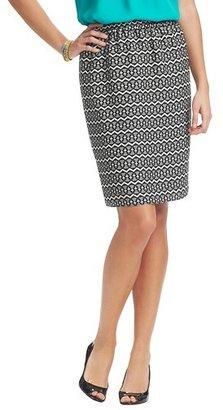 LOFT Zig Zag Mosaic Print Elastic Waist Pencil Skirt