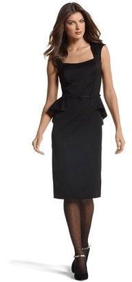 White House Black Market Faille Peplum Dress