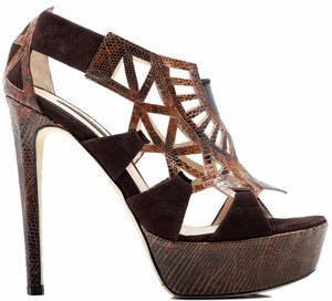 Chrissie Morris Saffi Lizard Heel
