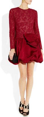 Valentino Lace and silk-satin bubble dress