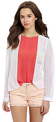 Patrons Of Peace Long-Sleeve Pleated Blouse