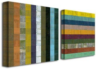 2-pc. ''Wooden Abstract VI'' Canvas Wall Art Set by Michelle Calkins