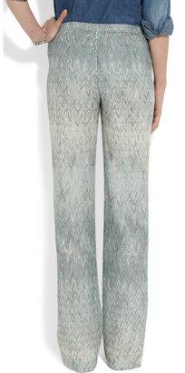 Missoni Metallic crochet-knit pants