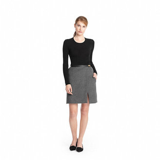 Coach Double Face Wool Slouchy Wrap Skirt
