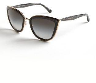 Dolce & Gabbana Wire Trimmed Cat-Eye Sunglasses