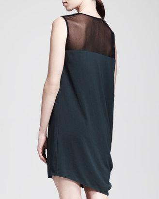 Helmut Lang HELMUT Nexa Asymmetric Drape Dress