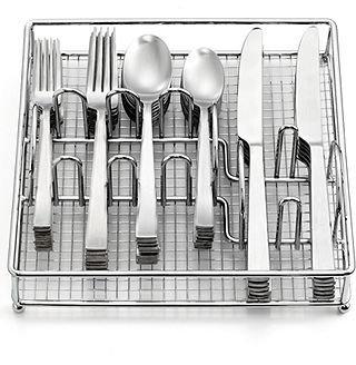 Cambridge Silversmiths Flatware, Piermont Satin 60 Piece Set