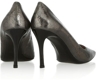 Miu Miu Cracked patent-leather pumps