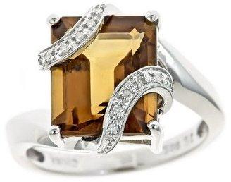 Sterling Gemstone & White Diamond Accent Ring