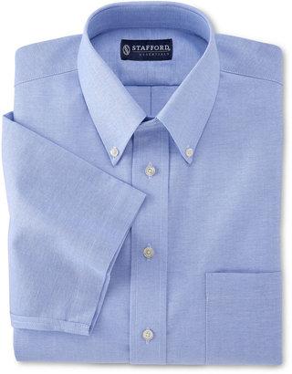 JCPenney Stafford Travel Short-Sleeve Wrinkle-Free Oxford Dress Shirt