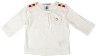 Petit Bateau Baby Girl's Chablis Long Sleeve Top - White